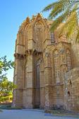 ララ ムスタファ パシャ モスク ファマグスタ、キプロスでまた聖ニコラス大聖堂. — ストック写真