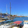 Historic harbor in Kyrenia, Cyprus. — Stock Photo