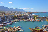 Old harbour in Kyrenia, Cyprus. — Stock Photo