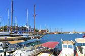 Historický přístav v kyrenia, kypr. — Stock fotografie