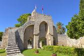 Opatství bellapais v kyrenia, kypr. — Stock fotografie