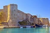 Středověký hrad v kyrenia, kypr. — Stock fotografie