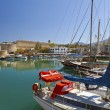 Medieval castle and old harbor in Kyrenia, Cyprus. — Stock Photo