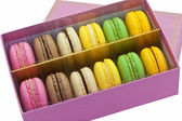 Box of macaroon biscuits. — Stok fotoğraf