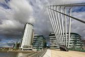 The MediaCityUK in Manchester England. — Stock Photo