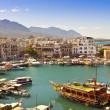 Stock Photo: Busy life of historic harbour in Kyrenia, Cyprus.