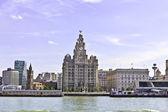 Pier Head in Liverpool, England. — Stock Photo