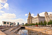 Pier Head in Liverpool, England. — Stock Photo