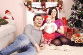 Happy Christmas family — Stock Photo