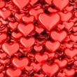 Stock Photo: 3d hearts background