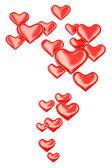 3d hearts — Stock Photo