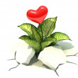 3d heart sprout — Stock Photo #40013845