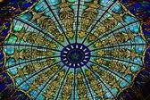 宮殿内部のガラスの天井 — ストック写真
