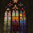 Stock Photo: Gothic stained glass window in Prague (czech republic)