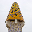 Mosaic chimneys in Barcelona — Stock Photo