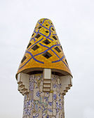 Mosaic chimneys in Barcelona — Stock Photo