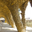 Stock Photo: Stone columns in Park Guell Barcelona