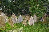 надгробия на старое еврейское кладбище в праге — Стоковое фото