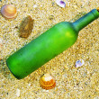 Message in a bottle — Stock fotografie