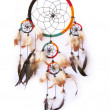 A red,green and black dreamcatcher isolated in white. — Stock Photo #6827102