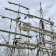 Stock Photo: Dockside of old sailing ship