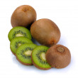 Ripe kiwi and segment — Stock Photo #12496146