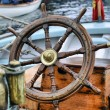 Steering wheel sailboat — Stock Photo #12521192