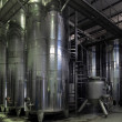 Vats of wine at the winery — Stock Photo