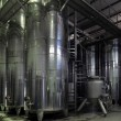 Stock Photo: Vats of wine at winery