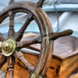 Steering wheel sailboat — Stock Photo #13990385