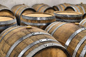Casks in wine cellar — Stock Photo