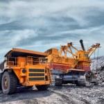 Loading of iron ore — Stock Photo