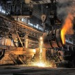 Smelting of the metal in the foundry — Stock Photo #14960797