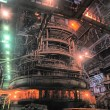 Stock Photo: Working blast furnace at metallurgical plant