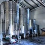 Stainless steel wine vats — Stock Photo