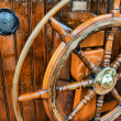 Steering wheel sailboat — Stock Photo #19854873