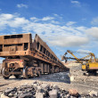 Stock Photo: Loading of iron ore