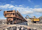 Carga de mineral de hierro — Foto de Stock