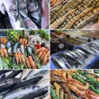 Showcase of seafood — Foto Stock