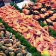Showcase of seafood — Stockfoto