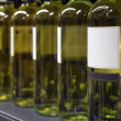 Stock Photo: White wine in bottles