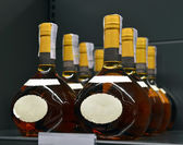 Brandy in the stores of alcoholic beverages — Stock Photo