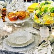 Luxury holiday place (table) setting — Stock Photo