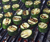 Grilled zucchini — Stock Photo