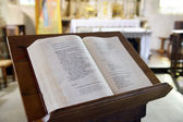 Bible in the Cathedral — Stock Photo