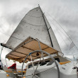 Stock Photo: Sail yacht in faithful weather