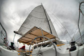 Sail yacht in the faithful weather — Stock Photo