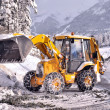 Стоковое фото: Clearing roads of snow and fallen tree