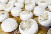 Well ripened goat and ewe cheeses — Stock Photo
