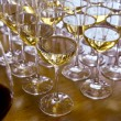 Glasses with wine on table — Stock Photo